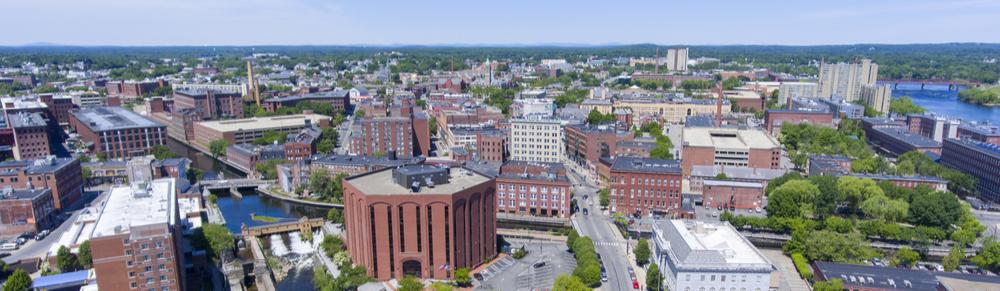 Lowell Massachusetts skyline
